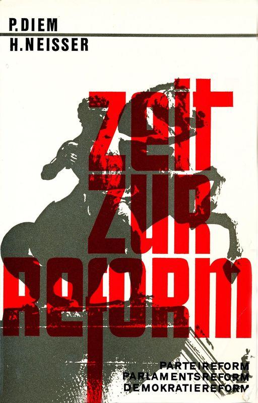 Bucheinband von 'Zeit zur Reform - Parteireform - Parlamentsreform - Demokratiereform'