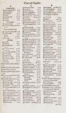 Bild der Seite - Register I - 174 - in Artzney Buch