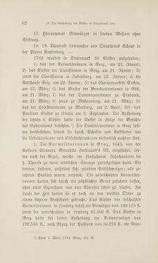 Bild der Seite - 62 - in Die Aufhebung der Klöster in Innerösterreich - 1782-1790