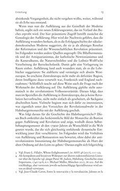 Bild der Seite - 13 - in Aufklärung habsburgisch - Staatsbildung, Wissenskultur und Geschichtspolitik in Zentraleuropa 1750–1850