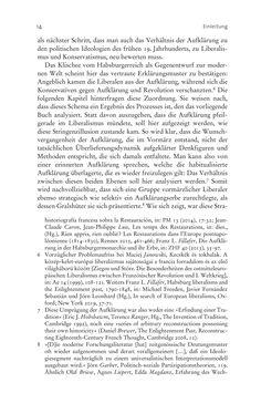 Bild der Seite - 14 - in Aufklärung habsburgisch - Staatsbildung, Wissenskultur und Geschichtspolitik in Zentraleuropa 1750–1850