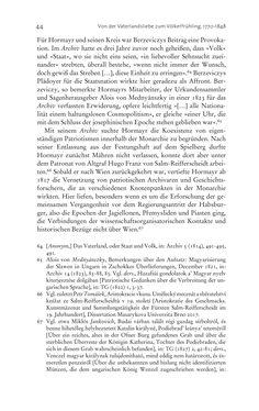 Bild der Seite - 44 - in Aufklärung habsburgisch - Staatsbildung, Wissenskultur und Geschichtspolitik in Zentraleuropa 1750–1850