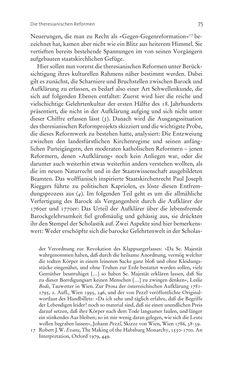 Bild der Seite - 75 - in Aufklärung habsburgisch - Staatsbildung, Wissenskultur und Geschichtspolitik in Zentraleuropa 1750–1850