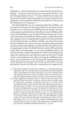 Bild der Seite - 104 - in Aufklärung habsburgisch - Staatsbildung, Wissenskultur und Geschichtspolitik in Zentraleuropa 1750–1850