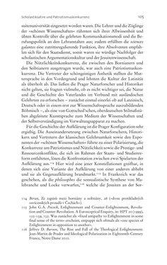 Bild der Seite - 105 - in Aufklärung habsburgisch - Staatsbildung, Wissenskultur und Geschichtspolitik in Zentraleuropa 1750–1850