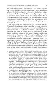 Bild der Seite - 135 - in Aufklärung habsburgisch - Staatsbildung, Wissenskultur und Geschichtspolitik in Zentraleuropa 1750–1850