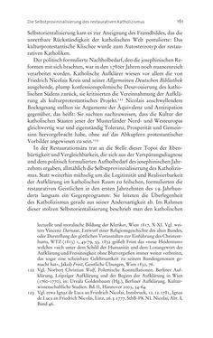 Bild der Seite - 161 - in Aufklärung habsburgisch - Staatsbildung, Wissenskultur und Geschichtspolitik in Zentraleuropa 1750–1850