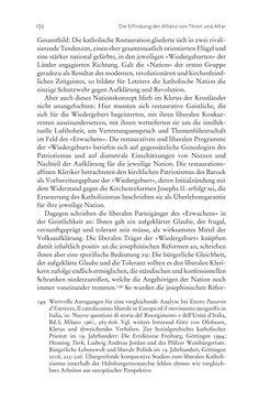 Bild der Seite - 172 - in Aufklärung habsburgisch - Staatsbildung, Wissenskultur und Geschichtspolitik in Zentraleuropa 1750–1850