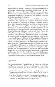 Bild der Seite - 192 - in Aufklärung habsburgisch - Staatsbildung, Wissenskultur und Geschichtspolitik in Zentraleuropa 1750–1850