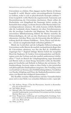 Bild der Seite - 289 - in Aufklärung habsburgisch - Staatsbildung, Wissenskultur und Geschichtspolitik in Zentraleuropa 1750–1850