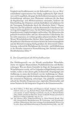 Bild der Seite - 310 - in Aufklärung habsburgisch - Staatsbildung, Wissenskultur und Geschichtspolitik in Zentraleuropa 1750–1850