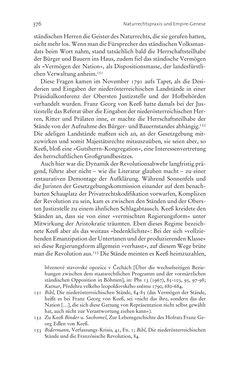 Bild der Seite - 376 - in Aufklärung habsburgisch - Staatsbildung, Wissenskultur und Geschichtspolitik in Zentraleuropa 1750–1850