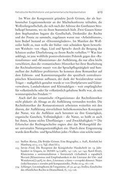 Bild der Seite - 409 - in Aufklärung habsburgisch - Staatsbildung, Wissenskultur und Geschichtspolitik in Zentraleuropa 1750–1850