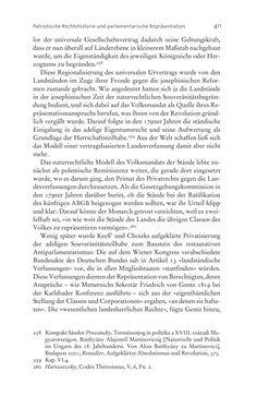 Bild der Seite - 411 - in Aufklärung habsburgisch - Staatsbildung, Wissenskultur und Geschichtspolitik in Zentraleuropa 1750–1850