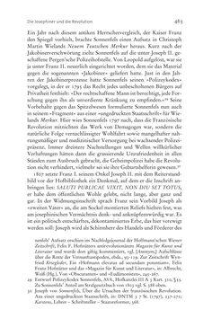 Image of the Page - 463 - in Aufklärung habsburgisch - Staatsbildung, Wissenskultur und Geschichtspolitik in Zentraleuropa 1750–1850