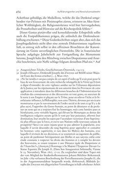 Bild der Seite - 464 - in Aufklärung habsburgisch - Staatsbildung, Wissenskultur und Geschichtspolitik in Zentraleuropa 1750–1850
