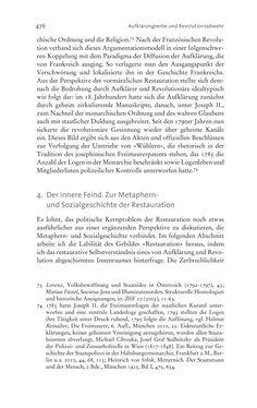 Image of the Page - 476 - in Aufklärung habsburgisch - Staatsbildung, Wissenskultur und Geschichtspolitik in Zentraleuropa 1750–1850