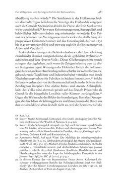 Bild der Seite - 481 - in Aufklärung habsburgisch - Staatsbildung, Wissenskultur und Geschichtspolitik in Zentraleuropa 1750–1850