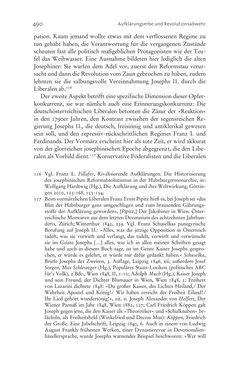 Bild der Seite - 490 - in Aufklärung habsburgisch - Staatsbildung, Wissenskultur und Geschichtspolitik in Zentraleuropa 1750–1850