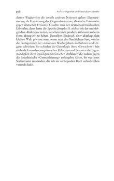 Bild der Seite - 496 - in Aufklärung habsburgisch - Staatsbildung, Wissenskultur und Geschichtspolitik in Zentraleuropa 1750–1850