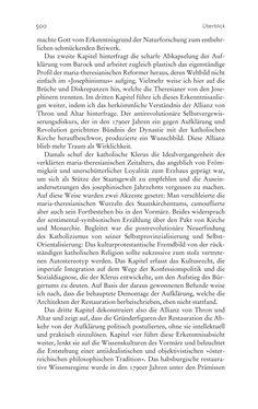Bild der Seite - 500 - in Aufklärung habsburgisch - Staatsbildung, Wissenskultur und Geschichtspolitik in Zentraleuropa 1750–1850
