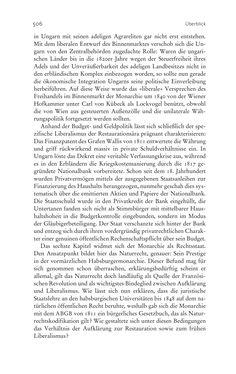 Bild der Seite - 506 - in Aufklärung habsburgisch - Staatsbildung, Wissenskultur und Geschichtspolitik in Zentraleuropa 1750–1850