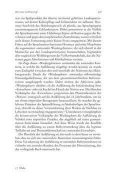 Bild der Seite - 521 - in Aufklärung habsburgisch - Staatsbildung, Wissenskultur und Geschichtspolitik in Zentraleuropa 1750–1850