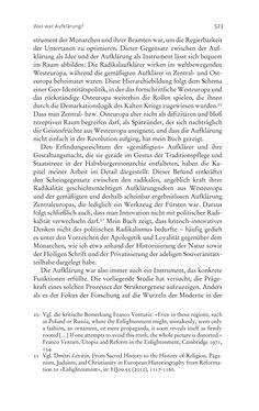 Bild der Seite - 523 - in Aufklärung habsburgisch - Staatsbildung, Wissenskultur und Geschichtspolitik in Zentraleuropa 1750–1850