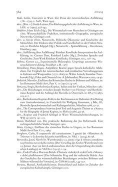 Bild der Seite - 564 - in Aufklärung habsburgisch - Staatsbildung, Wissenskultur und Geschichtspolitik in Zentraleuropa 1750–1850