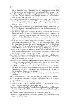 Bild der Seite - 574 - in Aufklärung habsburgisch - Staatsbildung, Wissenskultur und Geschichtspolitik in Zentraleuropa 1750–1850