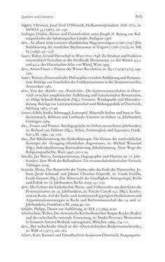 Bild der Seite - 605 - in Aufklärung habsburgisch - Staatsbildung, Wissenskultur und Geschichtspolitik in Zentraleuropa 1750–1850