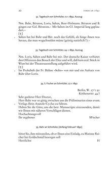 Image of the Page - 20 - in Arthur Schnitzler & Hermann Bahr - Briefwechsel, Aufzeichnungen, Dokumente 1891–1931