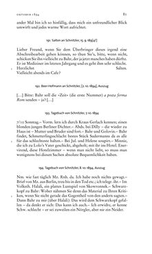 Image of the Page - 81 - in Arthur Schnitzler & Hermann Bahr - Briefwechsel, Aufzeichnungen, Dokumente 1891–1931