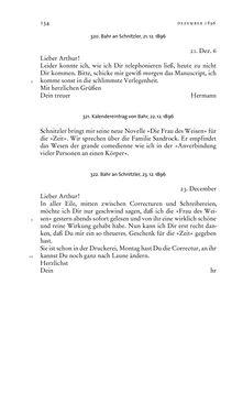 Bild der Seite - 134 - in Arthur Schnitzler & Hermann Bahr - Briefwechsel, Aufzeichnungen, Dokumente 1891–1931