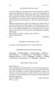 Bild der Seite - 202 - in Arthur Schnitzler & Hermann Bahr - Briefwechsel, Aufzeichnungen, Dokumente 1891–1931