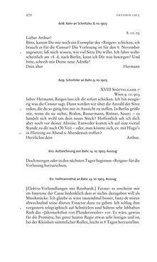 Bild der Seite - 272 - in Arthur Schnitzler & Hermann Bahr - Briefwechsel, Aufzeichnungen, Dokumente 1891–1931