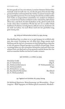 Bild der Seite - 321 - in Arthur Schnitzler & Hermann Bahr - Briefwechsel, Aufzeichnungen, Dokumente 1891–1931
