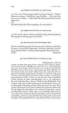 Bild der Seite - 394 - in Arthur Schnitzler & Hermann Bahr - Briefwechsel, Aufzeichnungen, Dokumente 1891–1931