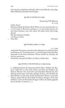 Bild der Seite - 430 - in Arthur Schnitzler & Hermann Bahr - Briefwechsel, Aufzeichnungen, Dokumente 1891–1931