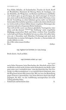 Bild der Seite - 445 - in Arthur Schnitzler & Hermann Bahr - Briefwechsel, Aufzeichnungen, Dokumente 1891–1931