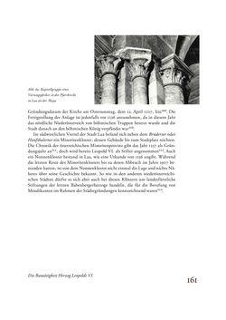 Bild der Seite - 161 - in Die Baukunst des 13. Jahrhunderts in Österreich