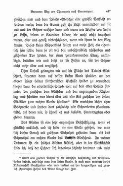 Bild der Seite - 447 - in Berg- und Gletscherfahrten in den Alpen in den Jahren 1860 bis 1869