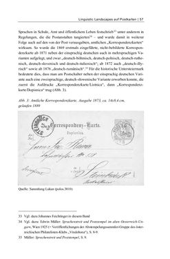 Bild der Seite - 57 - in Bildspuren – Sprachspuren - Postkarten als Quellen zur Mehrsprachigkeit in der späten Habsburger Monarchie