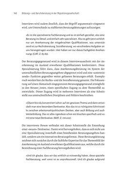 Bild der Seite - 146 - in Bildungs- und Berufsberatung in der Migrationsgesellschaft - Pädagogische Perspektiven auf Beratung zur Anerkennung im Ausland erworbener Qualifikationen