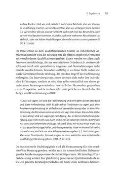 Bild der Seite - 155 - in Bildungs- und Berufsberatung in der Migrationsgesellschaft - Pädagogische Perspektiven auf Beratung zur Anerkennung im Ausland erworbener Qualifikationen
