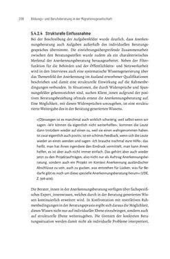 Bild der Seite - 208 - in Bildungs- und Berufsberatung in der Migrationsgesellschaft - Pädagogische Perspektiven auf Beratung zur Anerkennung im Ausland erworbener Qualifikationen