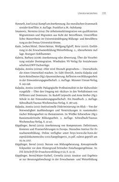 Bild der Seite - 233 - in Bildungs- und Berufsberatung in der Migrationsgesellschaft - Pädagogische Perspektiven auf Beratung zur Anerkennung im Ausland erworbener Qualifikationen