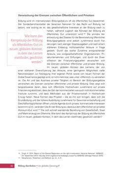 Bild der Seite - 82 - in Bildung überdenken - Ein globales Gemeingut?