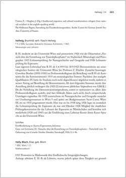 Bild der Seite - 365 - in Biografien bedeutender österreichischer Wissenschafterinnen - »Die Neugier treibt mich, Fragen zu stellen«