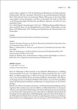 Bild der Seite - 427 - in Biografien bedeutender österreichischer Wissenschafterinnen - »Die Neugier treibt mich, Fragen zu stellen«